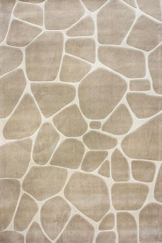 Beige Stepping Stones Modern Neutral Rug