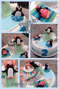 Pinguin verjaardagstaart