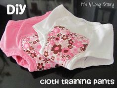 """Make training panties have a """"waterproof"""" liner for catching accidents"""