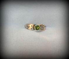 Dandelion birthstone ring, dandelion ring, dandelion jewelry, sterling silver on Etsy, $48.00