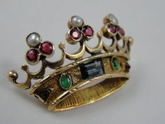 Victorian Brooch Crown of Jewels for King or Queen by MSJewelers, $815.00