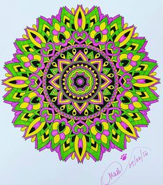ColorIt Mandalas to Color Volume 1 Colorist: Michelle Byrne #adultcoloring #coloringforadults #mandalas #mandalastocolor