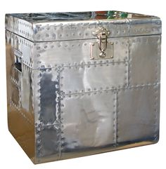 Gleaming surfaces, rich fabrics and glints of metal lend sumptuous elegance to Manhattan style decors. Right on trend this season is the aviator look, which is why our Aero Trunks will give your room its contemporary edge. Features      Aero Trunk is made from aluminium with a polished finish and rivet detail     Nickel hardware.     Manhattan Apartment Style