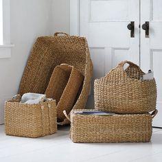West Elm Braided Storage Basket
