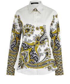 Etro Yellow Paisley Print Shirt