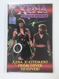 Xena, Warrior Princess Comic, Number 1, Signed, Vintage Topps Comic, Mint, Certificate of Authenticity, Autograph, Xena TV Series Comic Book by BarnabyGlenVintage on Etsy