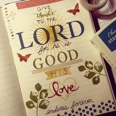 Scripture Saturday - Bible Journaling - Psalm 136