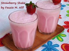 Strawberry Milkshake | Fauzias Kitchen Fun