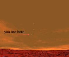Here is an incredible photo from NASA's Curiosity Mars probe…This is what Earth looks like from Mars. Think about THAT for a minute….