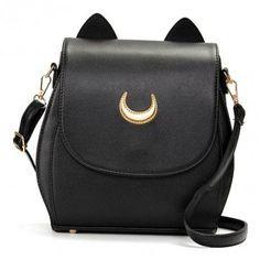 Ladies Moon Print Casual Crossbody Bag Sweet Leisure Backpack Elegant Shoulder…