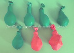 Le toucher : les ballons tactiles (ballons tactiles / balles tactiles / œufs de Pâques tactiles) !