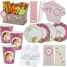 Pony Party Horse Party Girls Birthday Party Tableware, Plates, Cups, Napkins #Pony #BirthdayChild