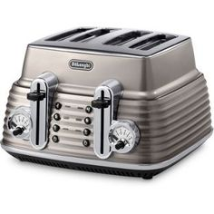 Buy De'Longhi Scultura 4 Slice Toaster - Champagne at Argos.co.uk, visit Argos.co.uk to shop online for Toasters