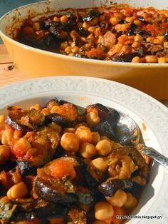 Eggplant Dishes, Baked Eggplant, Vegetarian Recipes, Cooking Recipes, Healthy Recipes, Food Decoration, Greek Recipes, Food And Drink, Favorite Recipes