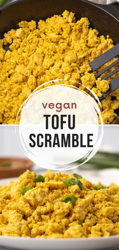 If you're looking for a protein-packed vegan breakfast to replace your morning eggs, you're going to love this tofu scramble with 19 grams of protein per serving.