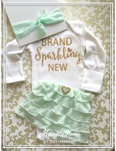 FREE GIFT OUTFIT Brand Sparkling New Baby Girl by MaineMomBoutique