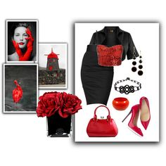 """""""Splash of Red Again"""" by emcf3548 on Polyvore"""