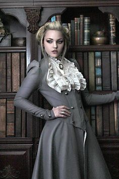 Lady Grey full outfit by Steampunk Couture. Victorian underbust coat jacket.