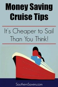 If you're taking a cruise, check out these tips on how to save money when you book.