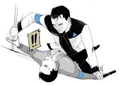 Detroit become human Connor and RK900 Connor51被RK900欺负了(๑•́₃•̀๑) By: riza-nusdy.tumblr.com