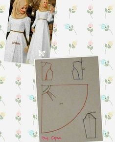 New sewing techniques dress fashion design ideas Fashion Sewing, Diy Fashion, Fashion Dresses, Dress Sewing Patterns, Clothing Patterns, Sewing Clothes, Diy Clothes, Abaya Pattern, Fashion Pattern