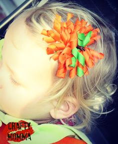 Crafty Momma: Pumpkin Hair Bow