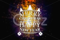Qdiz Stock Images Merry Christmas and New Year greeting card,  #background #blur #blurred #card #celebration #Christmas #eve #fantasy #greeting #happy #holiday #light #magic #Merry #new #postcard #retro #season #traditional #vintage #winter #xmas #year