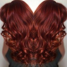Love this colour ... and pretty curls too.