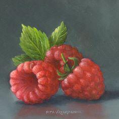 Still Life with Raspberries by Pita Vreugdenhil