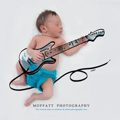 Guitar Hero, Baby Art.  By Moffatt Photography