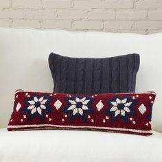 Found it at Wayfair - Fair Isle Snowflake Hooked Pillow