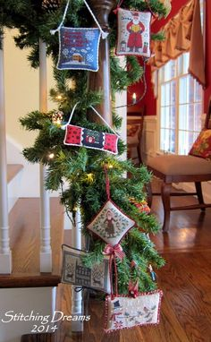 Stitching dream ornaments