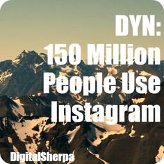 150 Million People Use #Instagram- Is your #SmallBiz reaching them? Check out our free #EBook on Instagram #Marketing- http://hub.am/GFABWG