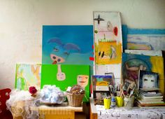 kreatives chaos Bunt, Painting, Atelier, Rustic, Creative, Painting Art, Paintings, Painted Canvas, Drawings