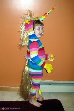 Rainbow Unicorn DIY Halloween Costume