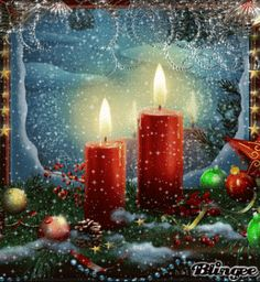 Send this Advent ecard to your family and friends. Free online Season Of Advent ecards on Advent Christmas Scenes, Noel Christmas, Vintage Christmas Cards, Christmas Pictures, Christmas Greetings, Winter Christmas, Christmas Glitter, Christmas Candles, Christmas Decorations