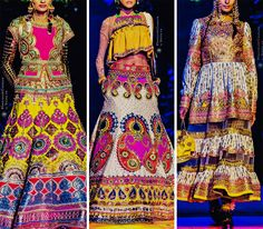 """Indian by Manish Arora with Swarovski Crystals "" Dandiya Dress, Bridal Dresses, Prom Dresses, Manish Arora, Indian Designer Outfits, Traditional Fashion, India Fashion, Lehenga Choli, Classy Outfits"