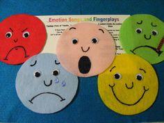 "Felt Board Flannel Story ""Feeling Faces"" Educational Circle Time Emotions | eBay"