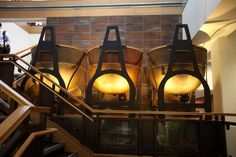 8-6-15 Remodel, 19 E Choc. On the grand staircase sit these industrial fudge vats.