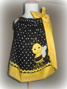 Bumble+Bee+Pillowcase+Dress++Bumble+bee+Dress++by+soohomemade,+$25.00
