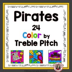 Celebrate Talk Like a Pirate Day and REINFORCE TREBLE PITCH with these 24 themed color by music sheets  .****Suitable for different grade levels and abilities  ****Excellent for your Music Lessons - review, earlier finishers, quiet activities during testing time or subs.. Pirate Day, Pirate Theme, Child Teaching, Teaching Music, Music Worksheets, Worksheets For Kids, Music Classroom, Classroom Resources, Music Sheets