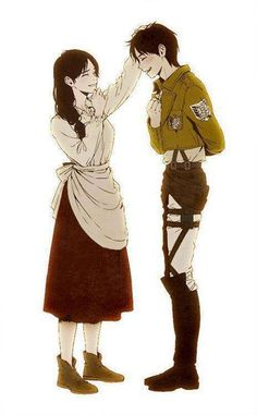 shingeki no kyojin | Tumblr  he finally got to his mom, mom is proud of the soldier her child has become :)