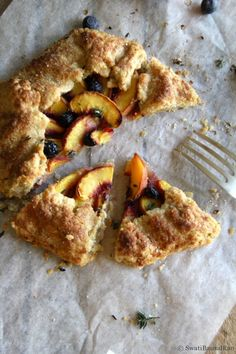 A Peach Galette for dessert!