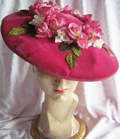 Velvet millinery ladies hat