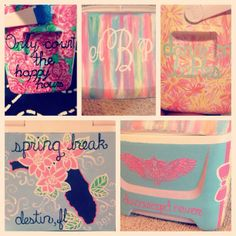 Cooler Girly Bright XO ChiO Lilly Bright Spring Break