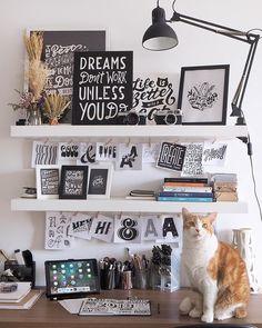 My workspace✨ . Graphic Design Workspace, Graphic Designer Desk, Home Office Design, House Design, Home Studio Desk, Room Interior, Interior Design, Workspace Desk, Atelier D Art