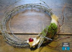 A Simple Barbed Wire Wreath