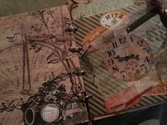 Fairy Pickle - vintage style mixed media chipboard albums