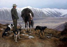 Taking a Breather by Julie Greig for Sale - New Zealand Art Prints New Zealand Art, Kiwiana, Cowboy Art, Sports Art, Native Art, Western Art, Dog Art, Landscape Art, Pretty Pictures