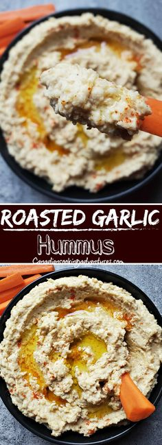 This is the Best Roasted Garlic Hummus you will ever try. Makes for a great snack and appetizer. #appetizer #snack #superbowl #vegan #vegetarian #garlic #roasted #hummus #recipe #homemade Fun Easy Recipes, Easy Appetizer Recipes, Quick Dinner Recipes, Quick Snacks, Breakfast Recipes, Snack Recipes, Dessert Recipes, Easy Meals, Budget Recipes